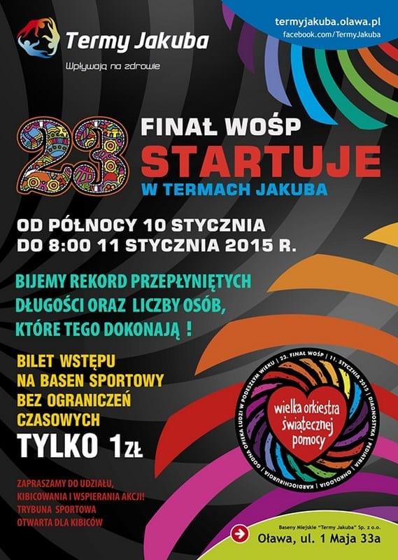 23 Finał WOŚP w Termach Jakuba - Oława
