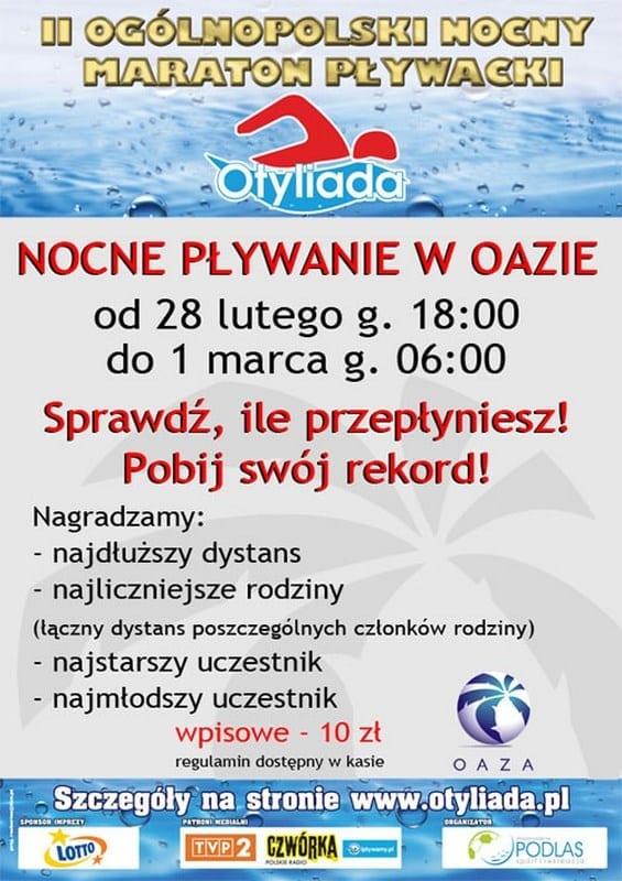 Nocne Pływanie Oaza Kórnik!