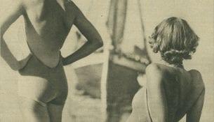 Na plaży - Światowid 1937r