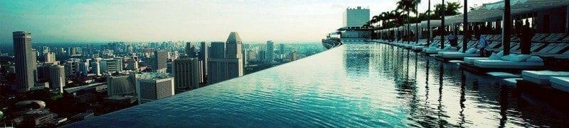 basen na dachu Marina Bay Sands