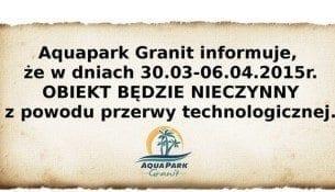 Aquapark Granit przerwa technologiczna