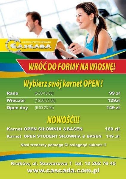 Wróć do formy na wiosnę! - Cascada Kraków