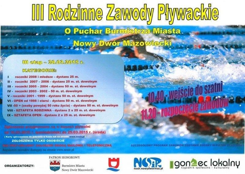 III Rodzinne Zawody Pływackie Nowy Dwór Mazowiecki