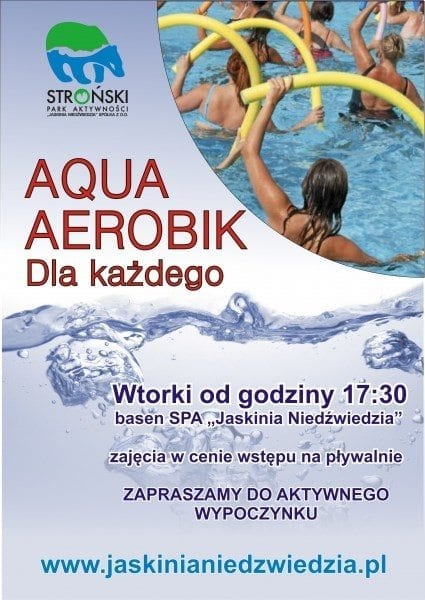 """Aqua Aerobik dla każdego - basen SPA """"Jaskinia Niedźwiedzia"""""""