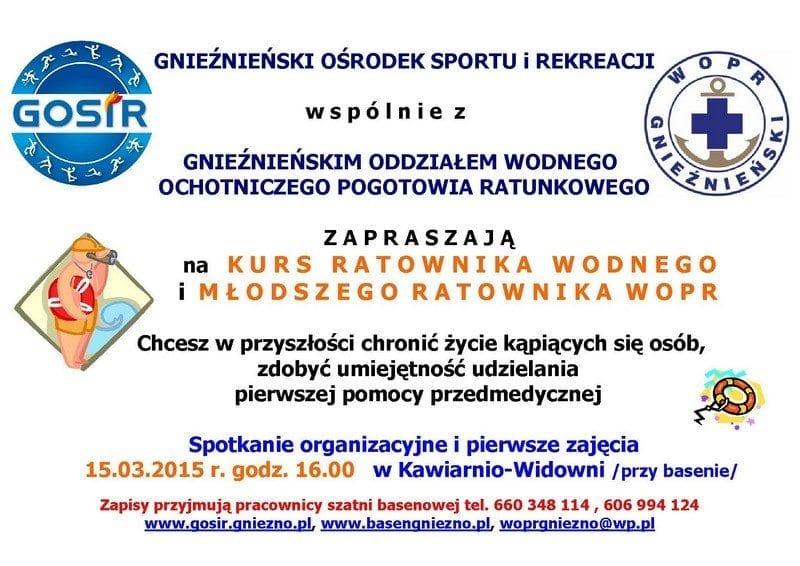 Kurs na Ratownika - basen Gniezno