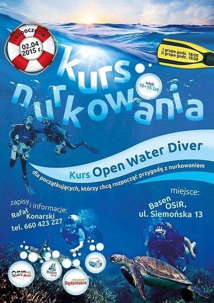 Kurs Open Water Diver - basen Będzin