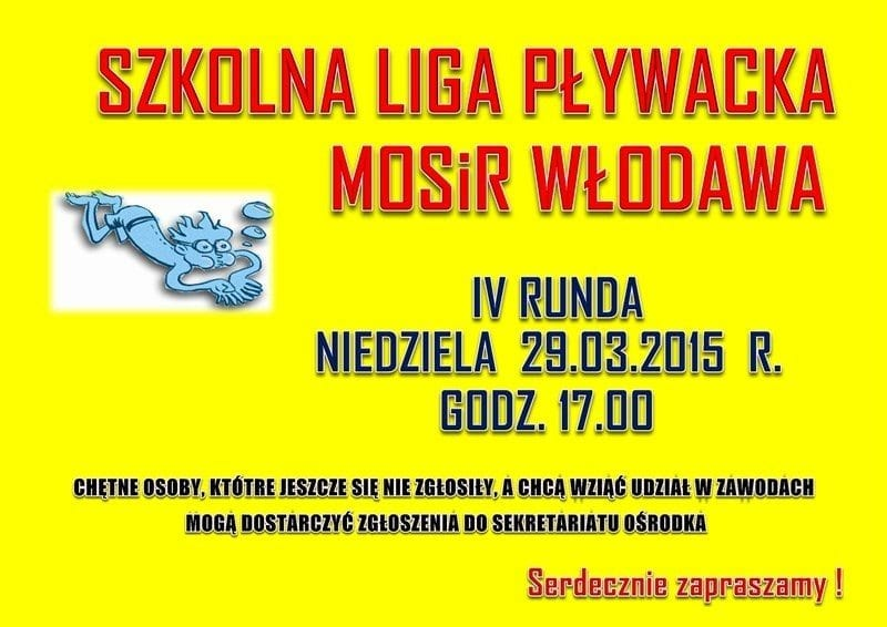 Szkolna Liga Pływacka - basen Włodawa