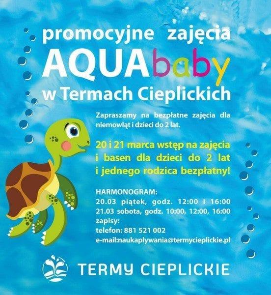 Bezpłatne zajęcia Aquababy w Termach Cieplickich dla niemowląt i dzieci do 2 lat