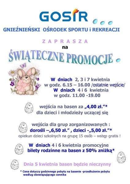 Świąteczne Promocje na basenie w Gnieźnie