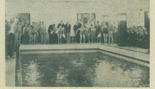 Pierwsze kroki pływackie Stadjonu