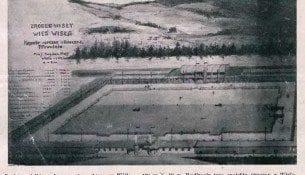 O basen pływacki w Wiśle - 1930r