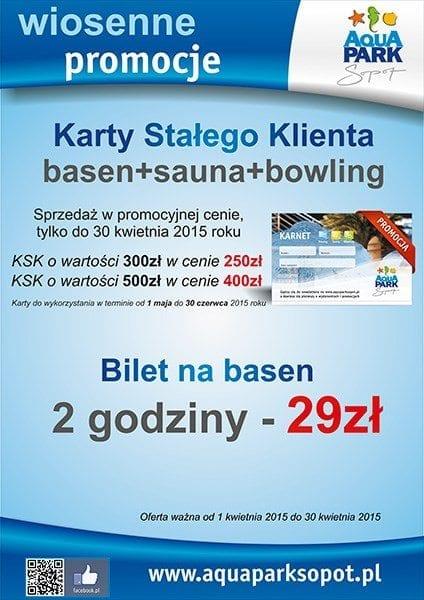 Wiosenne promocje - Aquapark Sopot
