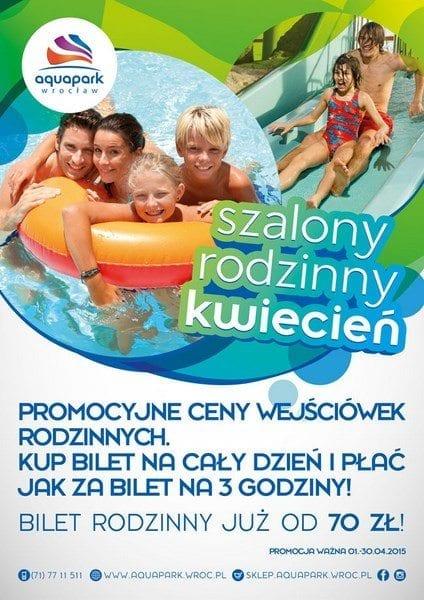 Szalony rodzinny kwiecień! - Aquapark Wrocław