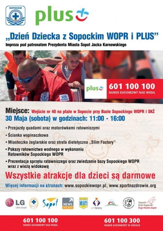 Dzień Dziecka z Sopockim WOPR i Plus !