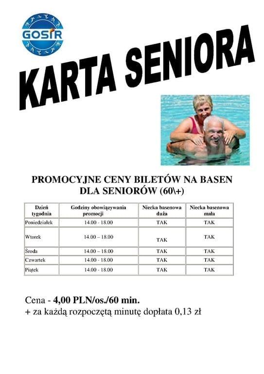 Karta Seniora - basen Gniezno