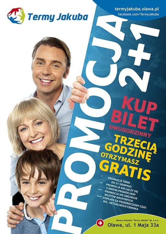 Promocja 2+1 - Termy Jakuba Oława