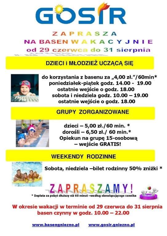 Wakacyjna oferta na basenie w Gnieźnie