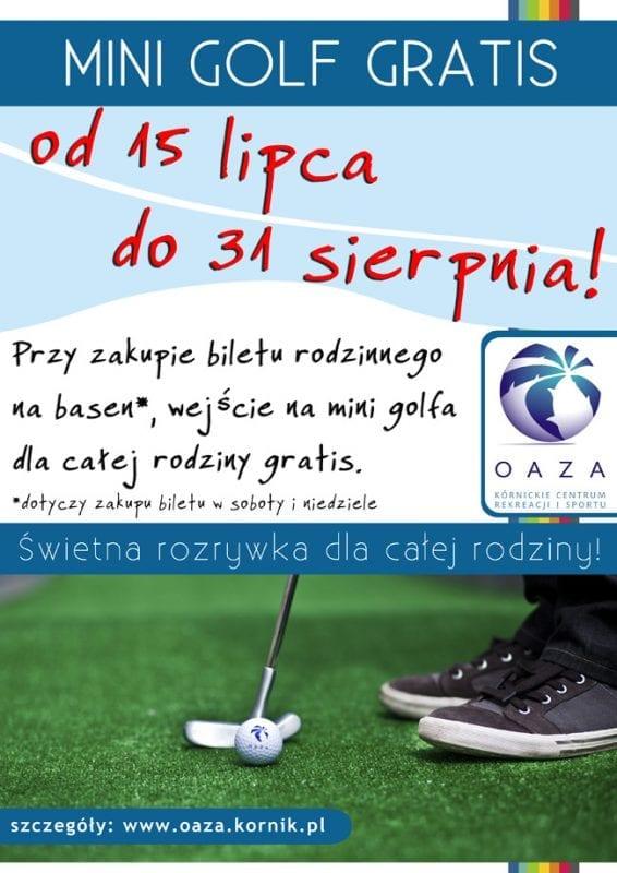 Mini Golf gratis - Oaza Kórnik