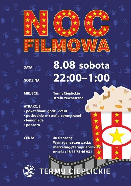 Noc filmowa w Termach Cieplickich - 8 sierpnia!