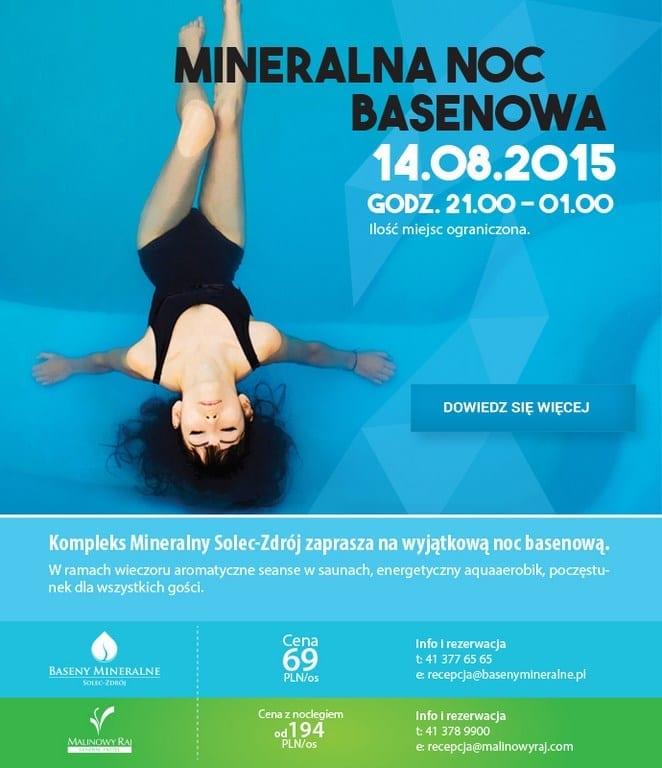 Przeżyj jedyną w Polsce Mineralną Noc Basenową!