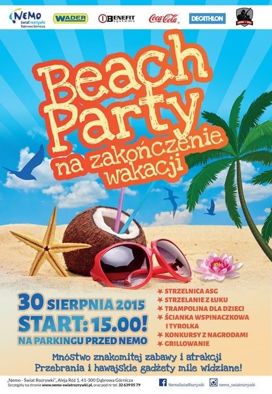 Beach Party na zakończenie wakacji - Nemo Wodny Świat Rozrywki
