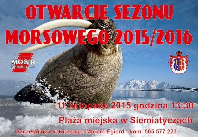 Otwarcie sezonu morsowego 2015/2016 – Siemiatycze