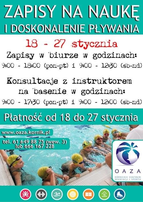 Zapisy na naukę pływania Oaza Kórnik