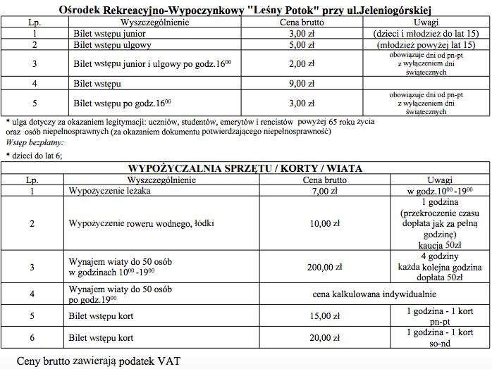 Pływalnia Leśny Potok- basen Bolesławiec
