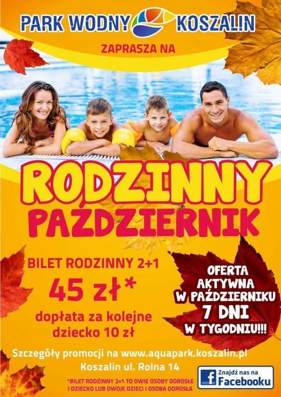 """""""Rodzinny październik"""" w koszalińskim aquaparku"""