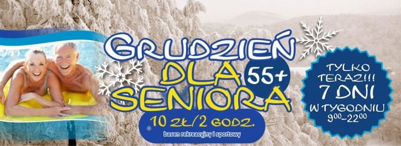 Grudzień dla Seniora w Parku Wodnym Koszalin