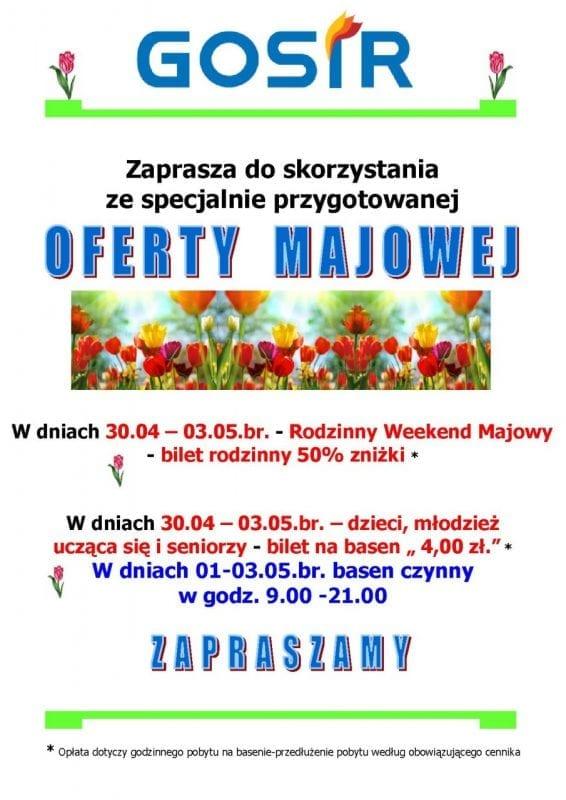 Weekend majowy na basenie w Gnieźnie