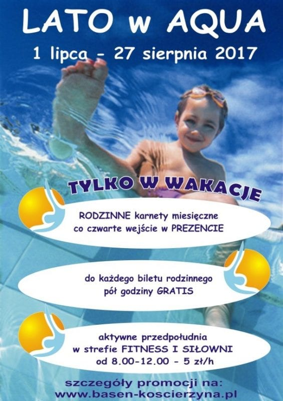 Lato w Aqua Centrum Kościerzyna