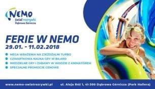 Ferie na basenie Nemo w Dabrowie Gorniczej