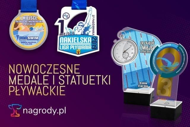 główne_medale statuetki pływackie